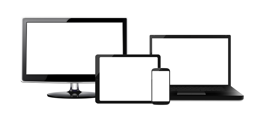 Many devices-mobile phones, tablets, computers and TVs